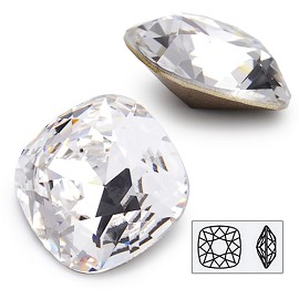18mm Swarovski Rhinestone 4470 Cushion Square Fancy Stone