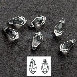 11 x 5.5mm Swarovski 6000 Teardrop Pendant by 6-pcs