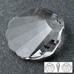 28mm Swarovski Crystal 6723 Shell Pendant
