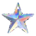 28mm Swarovski Crystal 6714, 8815 Star Pendant