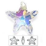 28mm Swarovski Crystal 6721 Starfish Pendant