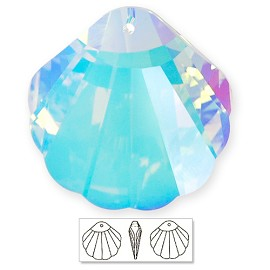 16mm Swarovski Crystal 6723 Shell Pendant