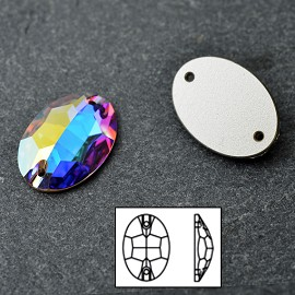 24x17mm Swarovski Crystal 3210 Oval Sew-on Stone
