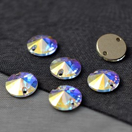 10mm Swarovski Crystal 3200 Rivoli Sew-on Stone