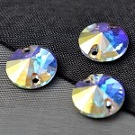 14mm Swarovski Crystal 3200 Rivoli Sew-on Stone