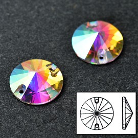 18mm Swarovski Crystal 3200 Rivoli Sew-on Stone