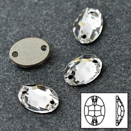 10x7mm Swarovski Crystal 3210 Oval Sew-on Stone