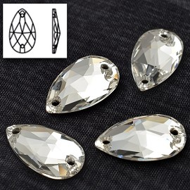 12x7mm Swarovski Crystal 3230 Drop Sew-on Stone