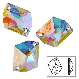 26 x 21mm Swarovski Crystal 3265 Cosmic Sew-on Stone
