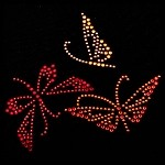 Metallic Swarovski Rhinestone Iron-on Motif by PC, H-0143A