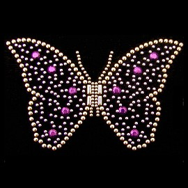 Butterfly Metal Studs Iron-on Motif by PC, H-0148A
