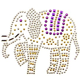 Elephant Metal Studs Iron-on Motif by PC, H-1637