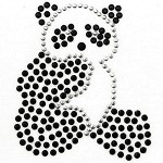 Panda Rhinestuds Iron-on Motif by PC, H-1669