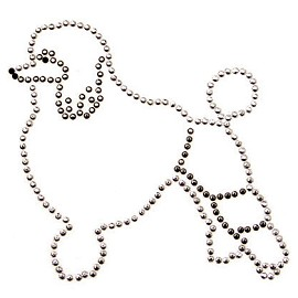 Dog Metal Studs Iron-on Motif by PC, H-1675A