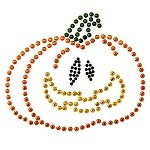 Pumpkin Metal Studs Iron-on Motif by PC, H-1618