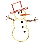 Snowman Metal Studs Iron-on Motif by PC, H-1687