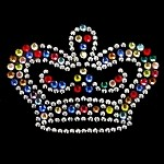 Crown Rhinestuds & Rhinestone Iron-on Motif by PC, H-1893