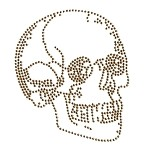 Skull Metal Rhinestuds Iron-on Motif Heat Transfer by PC, H-1829A