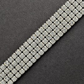 4-Row Rhinestone Banding Trim by Yard, RBD-1005