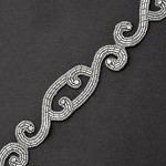 Rhinestone & Beaded Trim by Yard, FF-T1429