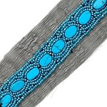 Turquoise Beaded Trim 1 yard, 7/8 inch, OSB-17308