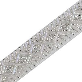 "1"" Beaded & Sequin Trim by YD, FF-V245"