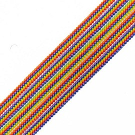 "1-7/8"" (48mm) Striped Elastic Stretch Ribbon Trim by yard, TR-11685"