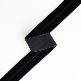 5/8'' (15mm) Elastic Stretch Fold Over Velvet Ribbon Trim by YD, SP-2287