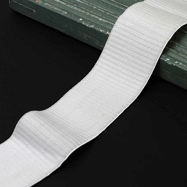 "2"" (50mm) Plush Elastic Stretch Ribbon Trim by yard, TR-12167"