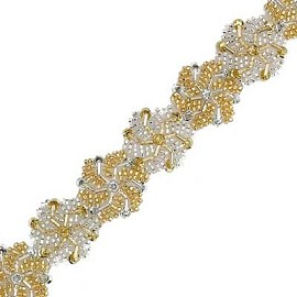 "1-1/4"" Beaded & Sequin Trim by YD, FF-TO1-016"