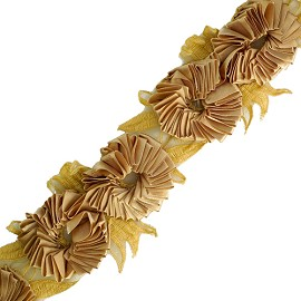 "3"" Floral Ribbon Trim by Yard, HDL-023"