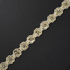 "3/4"" Floral Sequin Trim by YD, TR-10576"
