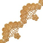 2-1/2 Inch Metallic Gold Lace Trim by yard, LP-MX-2310