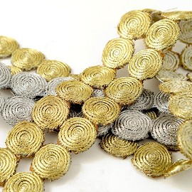 Metallic Circles Trim by Yard, SMB-3002