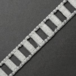 "7/8"" Iron on Metallic Ladder Trim by yard, SMB-3003"
