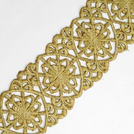 Iron on Metallic Lace Trim with adhesive back, SMB-3005