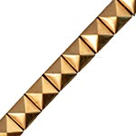 10mm Hot Fix Metal iron-on Pyramid Stud Nailhead Trim by yard, TR-11013