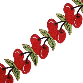 "1-1/2"" Cherry Ribbon by Yard, AAA-MT-121"