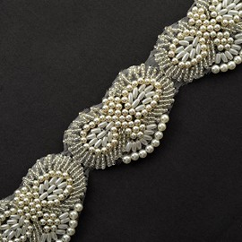 "1-3/4"" Pearl & Beaded Trim by YD, TR-10518"