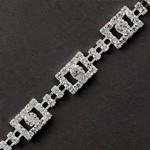 Square Rhinestone Trim by yard, TR-10470