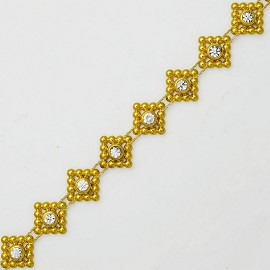 "1/2"" Rhinestone Trim by Yard, TR-10379"