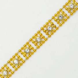 Crystal Rhinestone Trim by yard, TR-10380