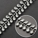 Rhinestone Trim with Drop Stone by yard, TR-10443