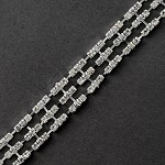 3-Row Rhinestone Trim by yard, TR-10473