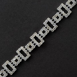 Rhinestone Square Trim by yard, TR-10475